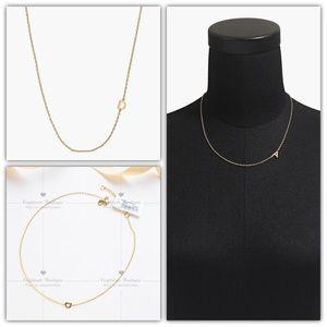 J.CREW Petite Initial Pendant Necklace - D